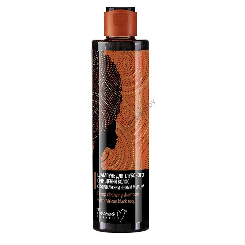 Шампунь для глубокого очищения  волос с африканским черным мылом от Белита-М