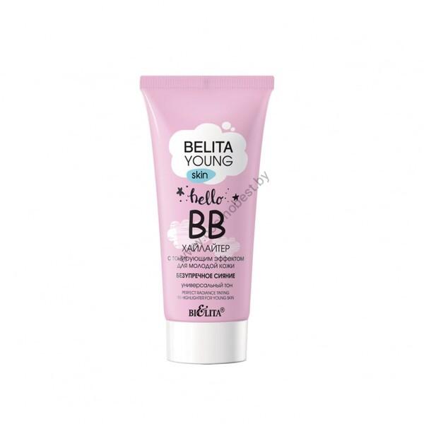 ВВ-хайлайтер с тонирующим эффектом для молодой кожи «Безупречное сияние» от Белита