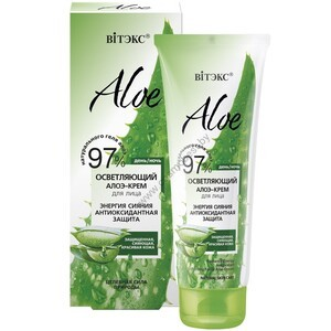 "Radiance Energy Brightening Aloe Facial Cream. Antioxidant protection ""from Vitex"