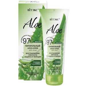 "Nourishing Aloe Facial Cream Firming Restoration. Wrinkle protection ""from Vitex"