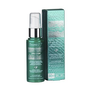 Night face cream with snake venom peptide for intensive correction of wrinkles 40+ Green Snake from Belita-M
