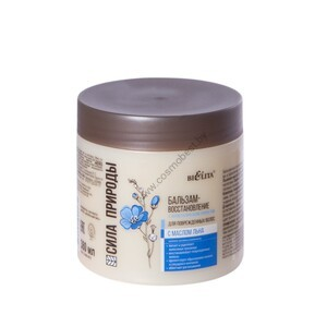 Balm-restoration with flax oil for damaged hair with an antistatic effect from Belita