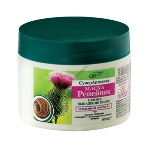 "SuperActive mask ""Burdock"" against hair loss, washable from Vitex"