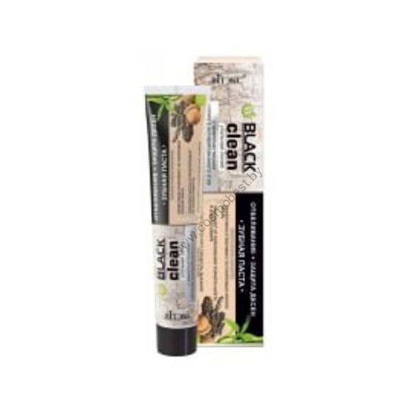 Зубная паста Отбеливание+защита дёсен с микрочастицами черного активированного угля и корой дуба от Витэкс