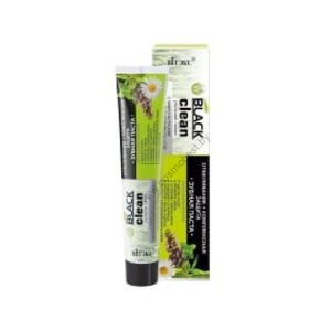 Toothpaste Whitening + complex protection with microparticles of black activated carbon and medicinal herbs from Vitex