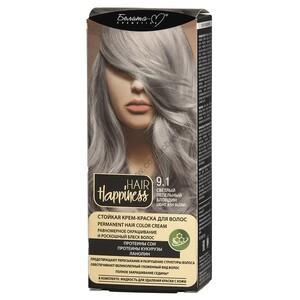 Стойкая крем-краска для волос  тон 9.1 Светлый пепельный блондин от Белита-М