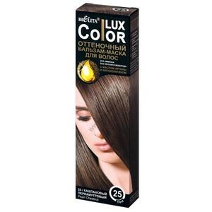 Оттеночный БАЛЬЗАМ-МАСКА для волос ТОН 25 каштановый перламутровый от Белита