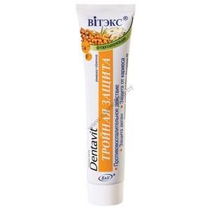 Зубная паста фторсодержащая Ромашка + Облепиха – Тройная защита от Витэкс