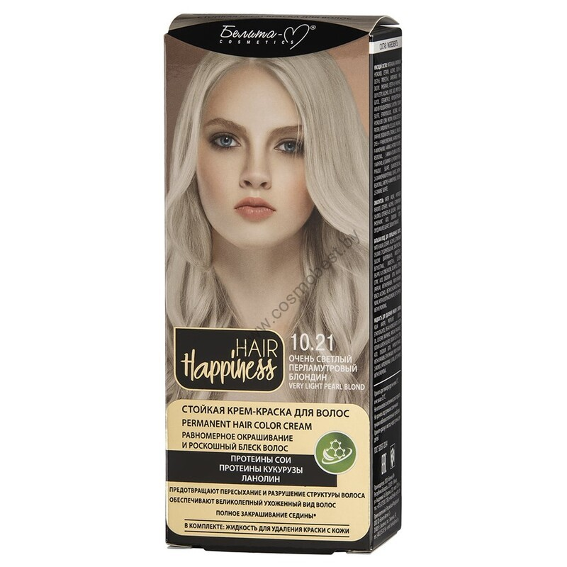 Стойкая крем-краска для волос  тон № 10.21 Очень светлый перламутровый блондин от Белита-М