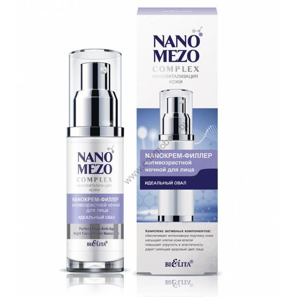 Крем-филлер антивозрастной ночной для лица NANOMEZOCOMPLEX от Белита