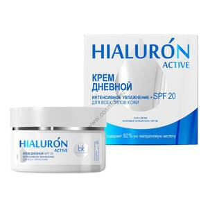 Крем дневной интенсивное увлажнение + SPF 20 для всех типов кожи от Belkosmex