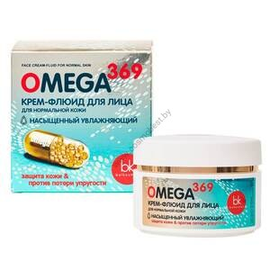 Omega 369 moisturizing face fluid cream for normal skin from Belkosmex