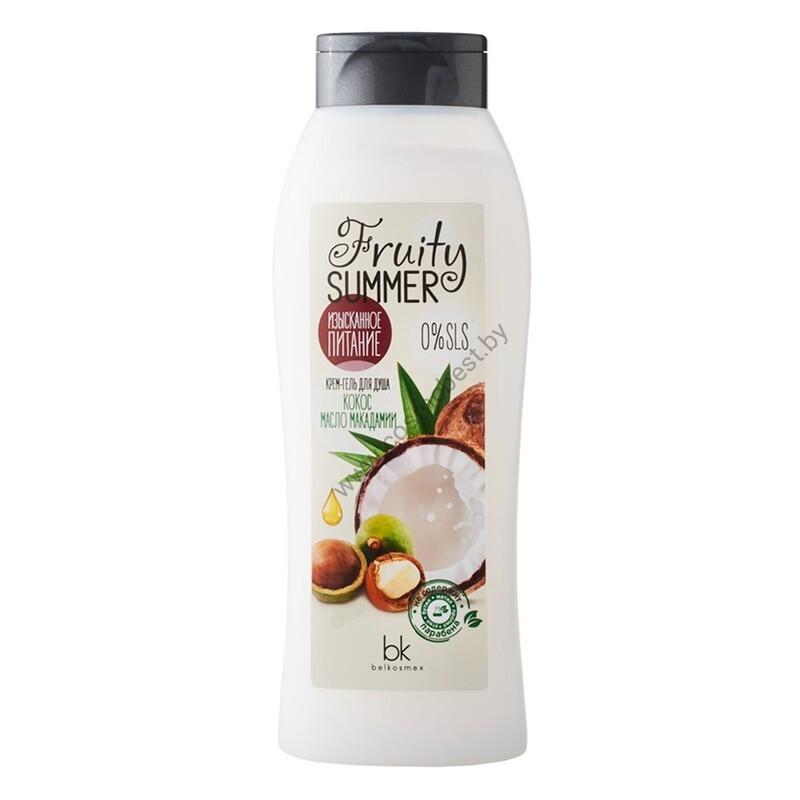 Крем-гель для душа Изысканное питание кокос масло макадамии от Belkosmex