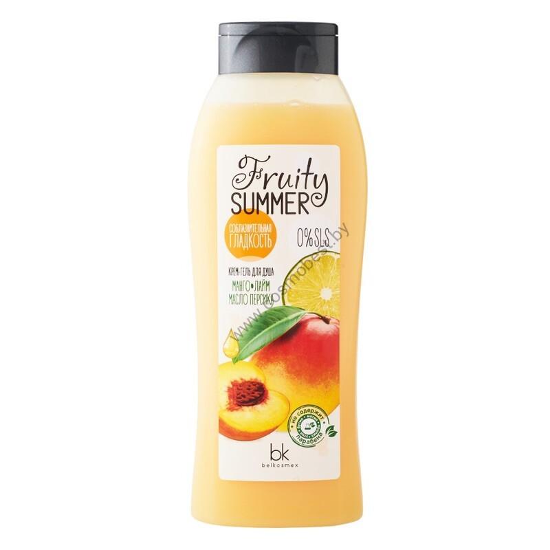 Крем-гель для душа Соблазнительная гладкость манго лайм масло персика от Belkosmex