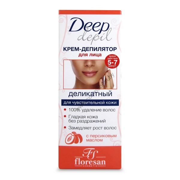 Деликатный крем-депилятор для удаления волос на лице с персиковым маслом от Floresan