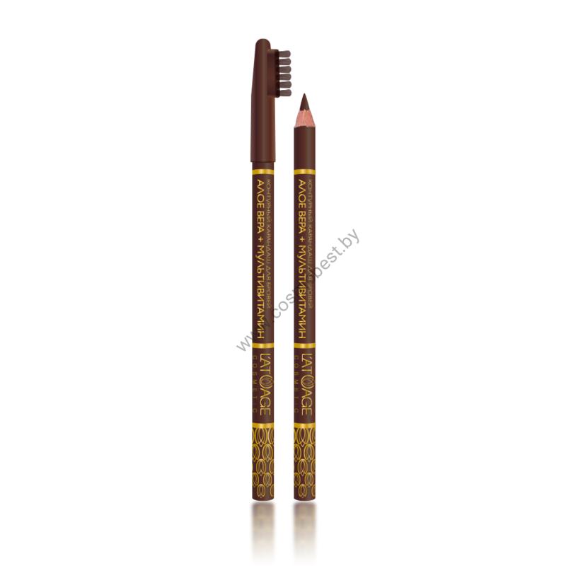 Карандаш для бровей L'ATUAGE 01 (коричневый) от L'atuage