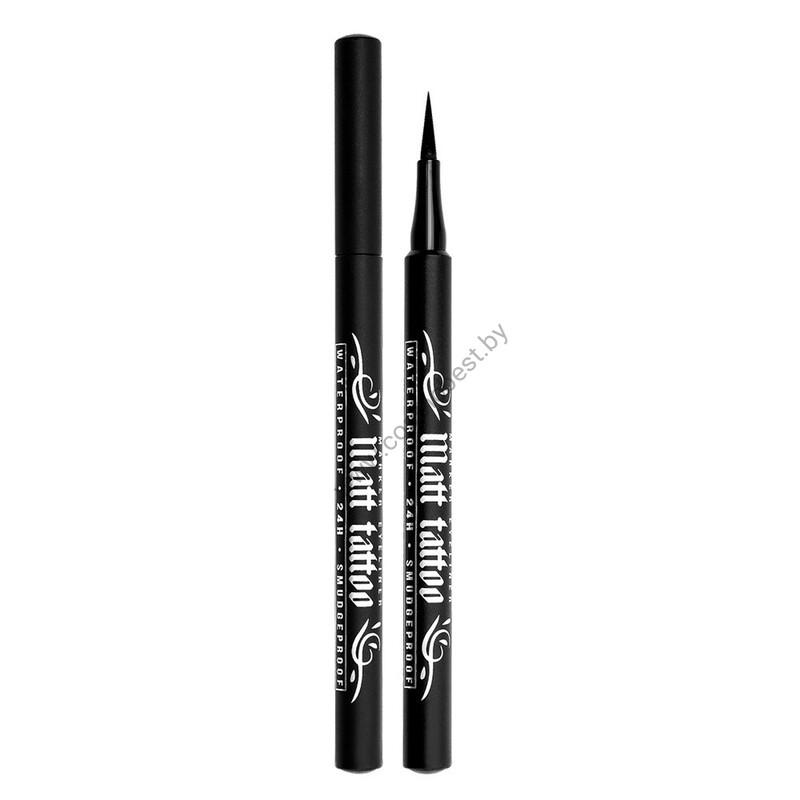 Eyeliner-marker MATT TATTOO waterproof 24H smudgeproof from Luxvisage