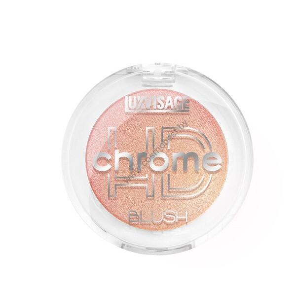 Румяна сияющие с шиммером HD Chrome от Luxvisage