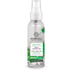 Aqua-Mist for Face and Body Lime & Green Tea Superfood by Markell