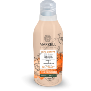 Гель-йогурт для душа персик и маракуйя Superfood от Markell