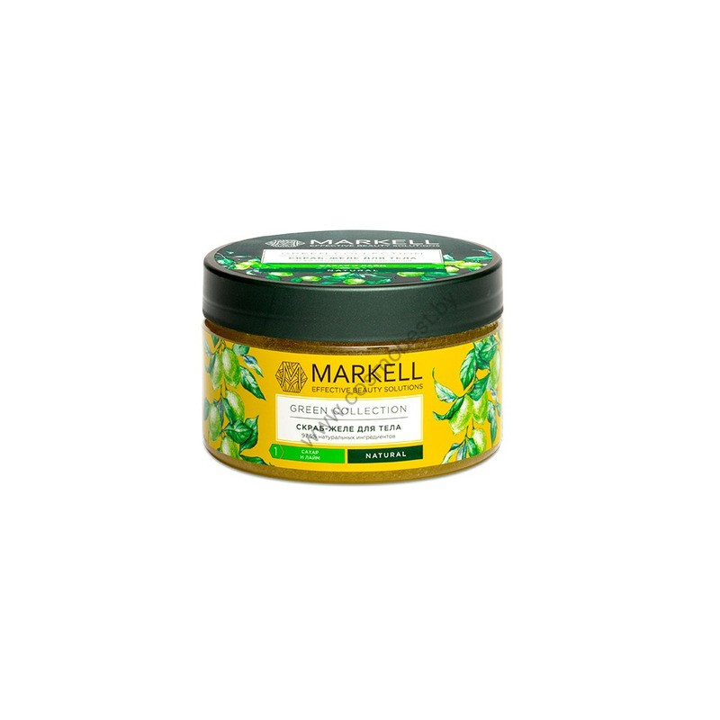 Green Collection Скраб-желе для тела Сахар и лайм от Markell
