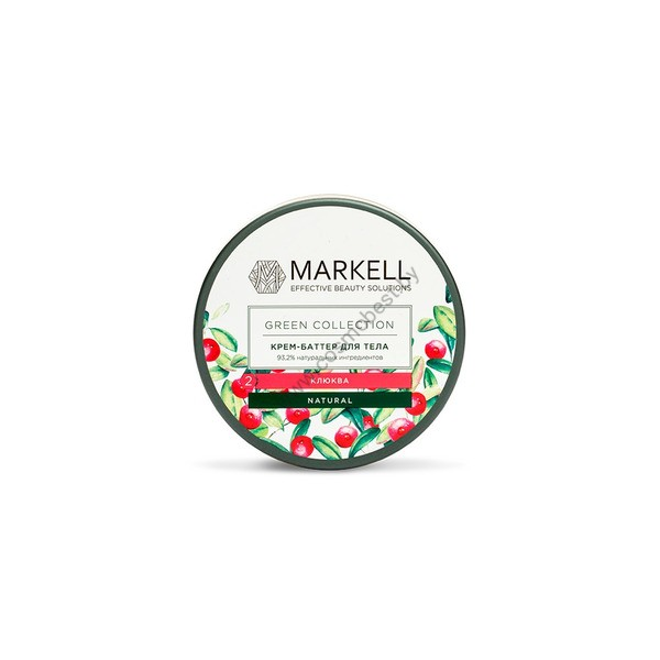 Крем-баттер для тела «Клюква» Green Collection от Markell