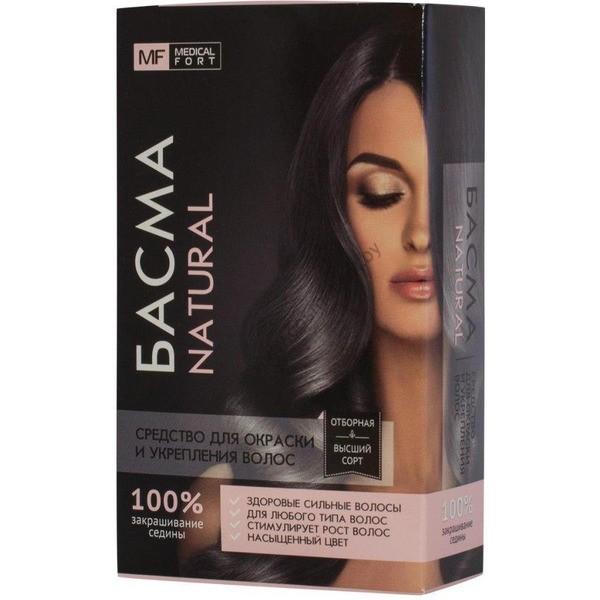 """Средство для окраски и укрепления волос  """"Басма натуральная"""" от Medical Fort"""