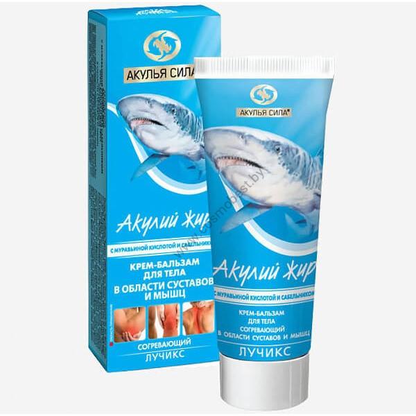 Крем для тела в области суставов и мышц Акулий жир с Муравьиной кислотой и сабельником от Акулья сила